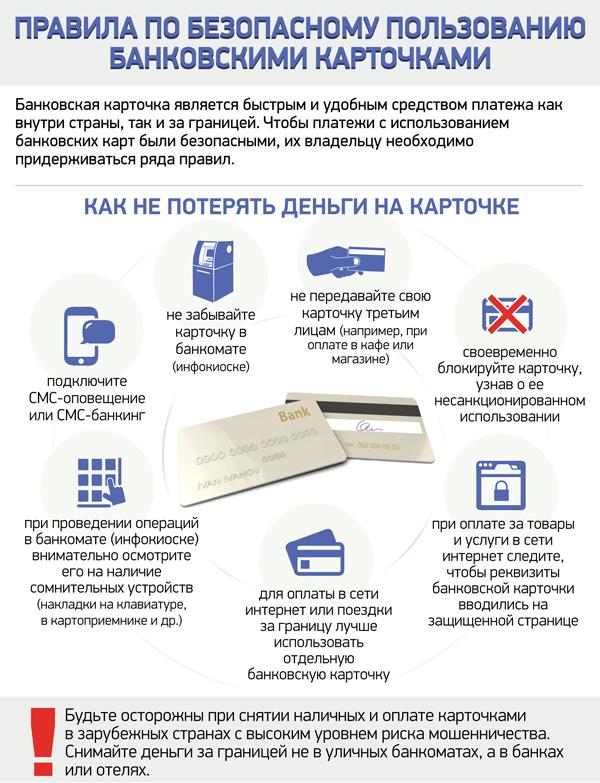 Меры безопасности при пользовании кредитными картами