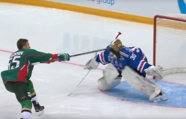 Матч звезд КХЛ: самый эффектный буллит отВладимира Ткачева