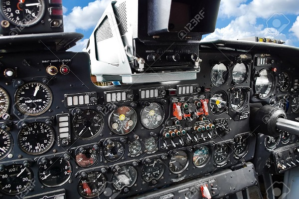 10024437-Aircraft-cockpit-dash-board-closeup-Stock-Photo