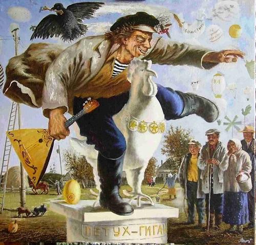 открытие памятника петуху-гиганту