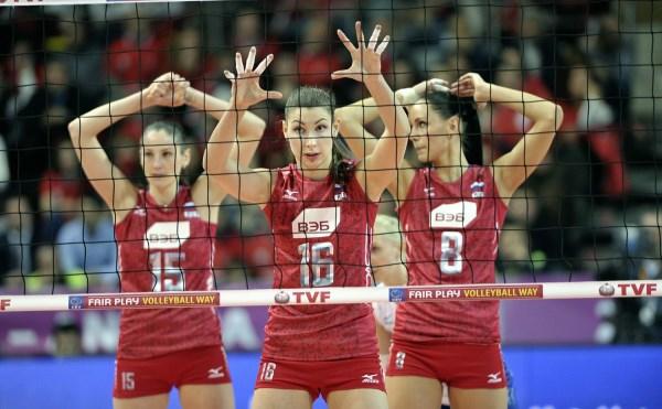 Русские  волейболистки победили команду Грузии вотборе чемпионата мира