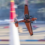 Nicolas Ivanoff of France performs during a free practice at the sixth stage of the Red Bull Air Race World Championship at Eurospeedway in Lausitz, Germany on September 2, 2016.
