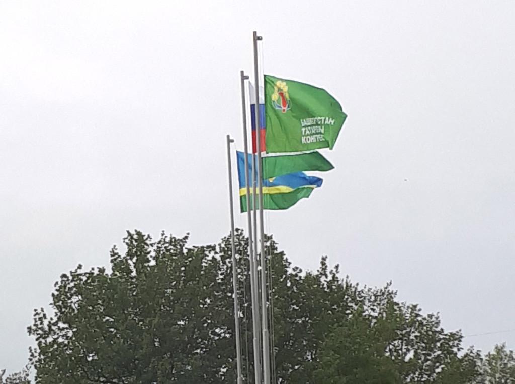На Сабантуе впервые подняли флаг Конгресса татар Башкортостана.