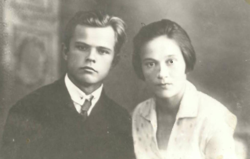 Петр Иванович Раков и Вера Николаевна Булаева.1932 г.