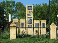 Монумент павшим в Великой Отечественной войне  в селе Шахмайкино.
