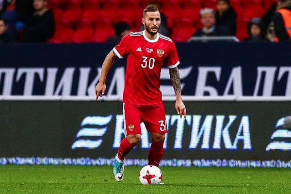 Форвард «Краснодара» Смолов получил вызов внациональную сборную Российской Федерации
