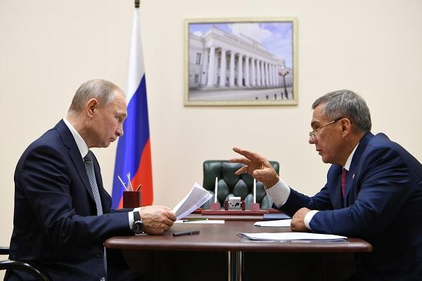 Путин_Минниханов_Пресс-служба Президента РТ