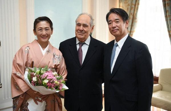 Минтимер Шаймиев встретился с послом Японии в Российской Федерации Тоёхиса Кодзуки