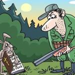 карикатура на охоте