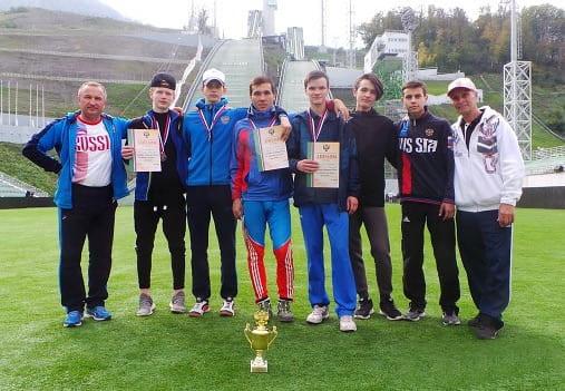 сборная татарстана заняла третье место в сочи по прыжкам на лыжах с трамплина