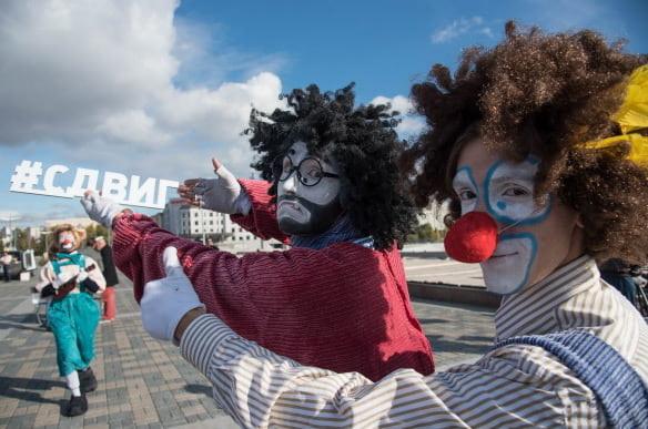 в Казани прошел праздник, посвященный предстоящему Году театра в России