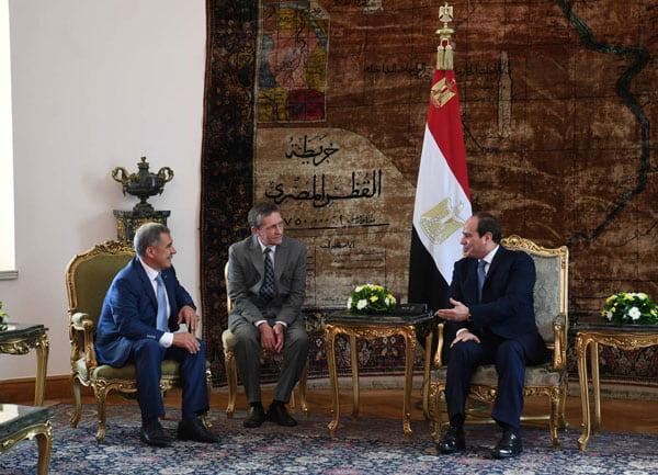 официальная встреча Президента Республики Татарстан Рустама Минниханова с Президентом Арабской Республики Египет Абдель Фаттахом ас-Сиси