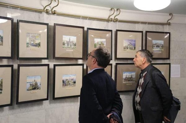 выставка Равиля Айдарова «Краски памяти. Деревянная Казань в акварелях».