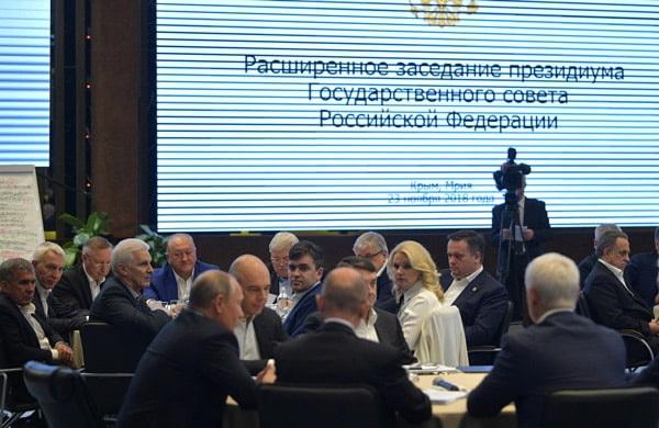 Рустам Минниханов в рамках рабочей поездки в Крым принял участие в работе расширенного заседания президиума Государственного Совета Российской Федерации.