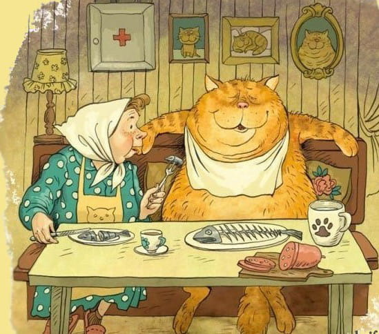 карикатура котик