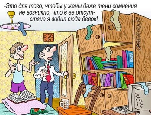 карикатура на мужа