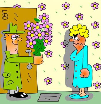 карикатура-цветы