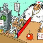 карикатура-бесплатная медицина