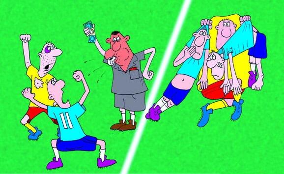 карикатура футбол
