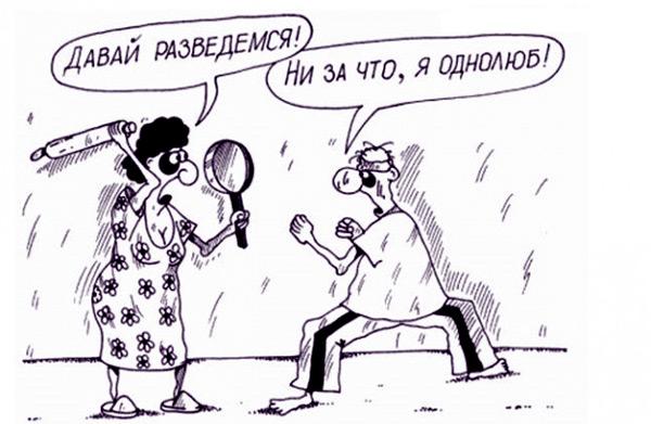 карикатура-развод