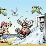 карикатура-турист