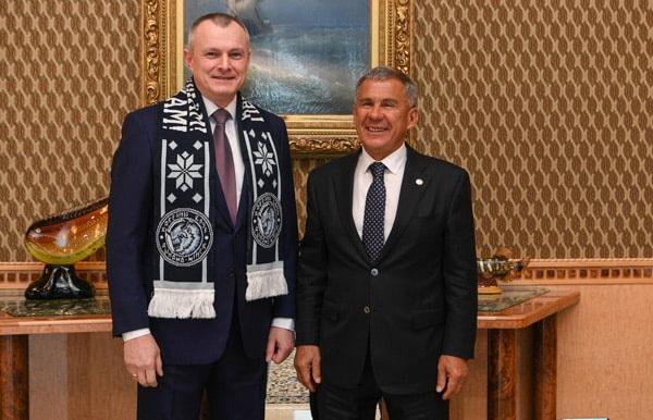 Минниханова с Министром внутренних дел Республики Беларусь генерал-лейтенантом милиции Игорем Анатольевичем Шуневичем