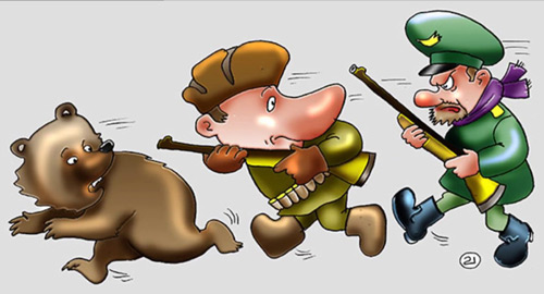 карикатура-бракорьер