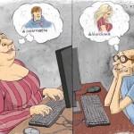 карикатура-знакомство