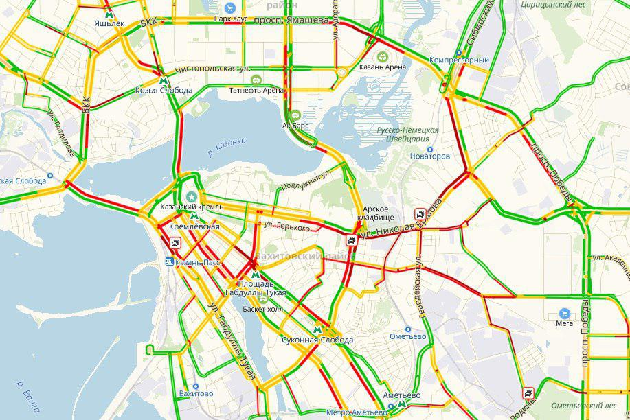 карта пробки