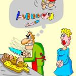 карикатура-мужик-на-кухне