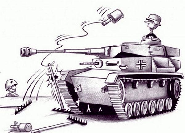 карикатура-танк
