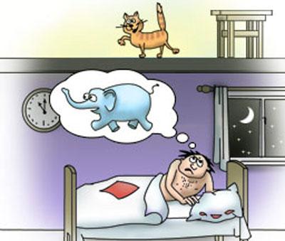 карикатура-кошка