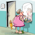 карикатура-молодуха