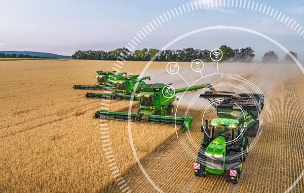 сельское хозяйство с мониторингом техники