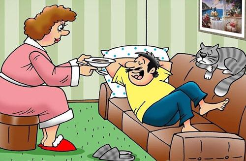 карикатура-муж
