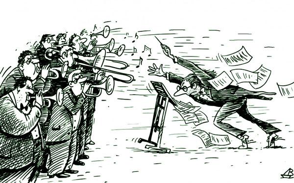 карикатура-оркестр