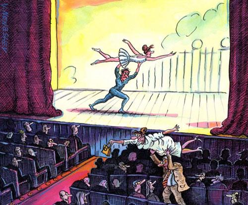карикатура-спектакль