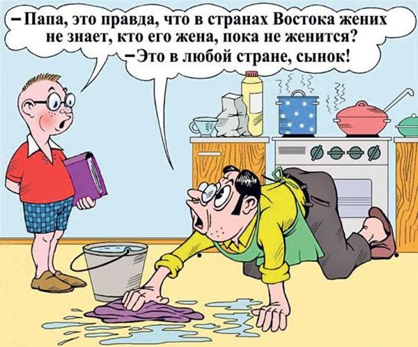 карикатура-жена