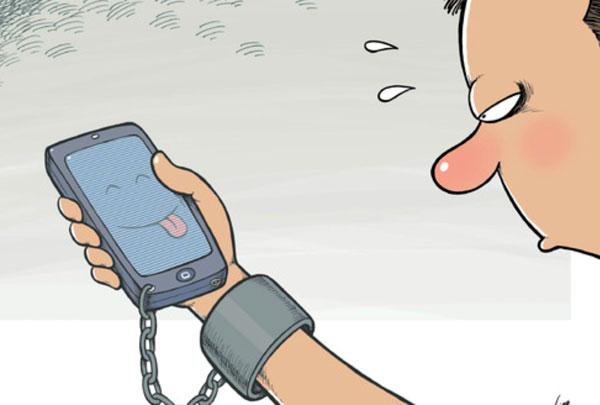 карикатура-телефон