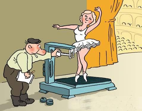 карикатура-балерина