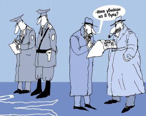 карикатура-детектив