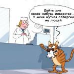 карикатура-аллергия