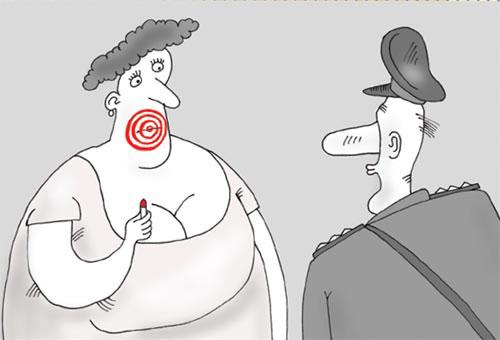 карикатура-поцелуй