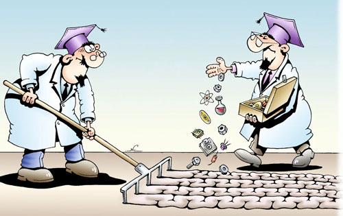 карикатра-ученые