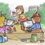 карикатура-на-детской-площадке