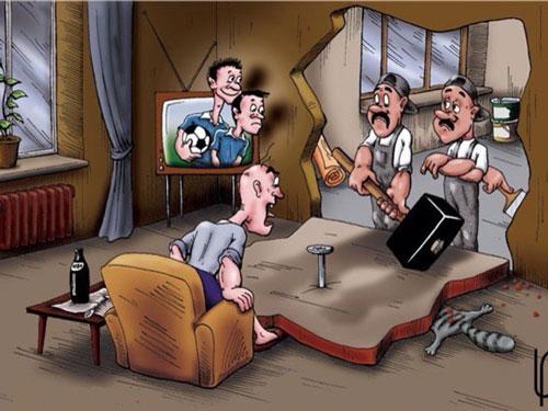 карикатура-ремонт