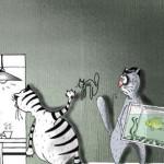 карикатура-кот