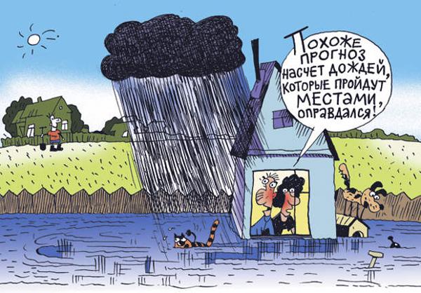 карикатура-дождь